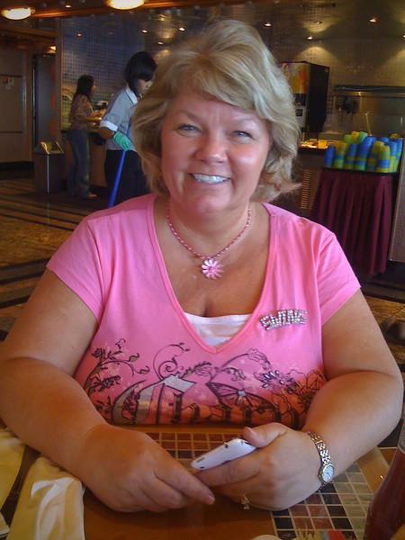 Nancy aboard ship - 20 Sept 2009