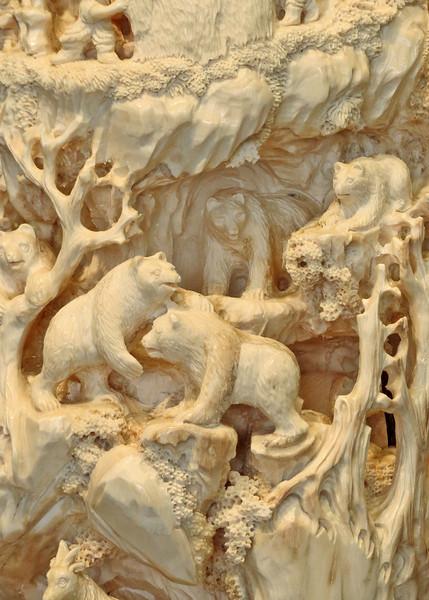 The tusk carving by Eddie Lee
