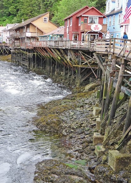 Creek Street Ketchikan is built over the water and the bootleggers would simply wait until high tide and would row their rowboats right up the stream to deliver their goods in the cloak of darkness. Most of the houses had hidden 'trap doors' underneath the house just to receive delivery!