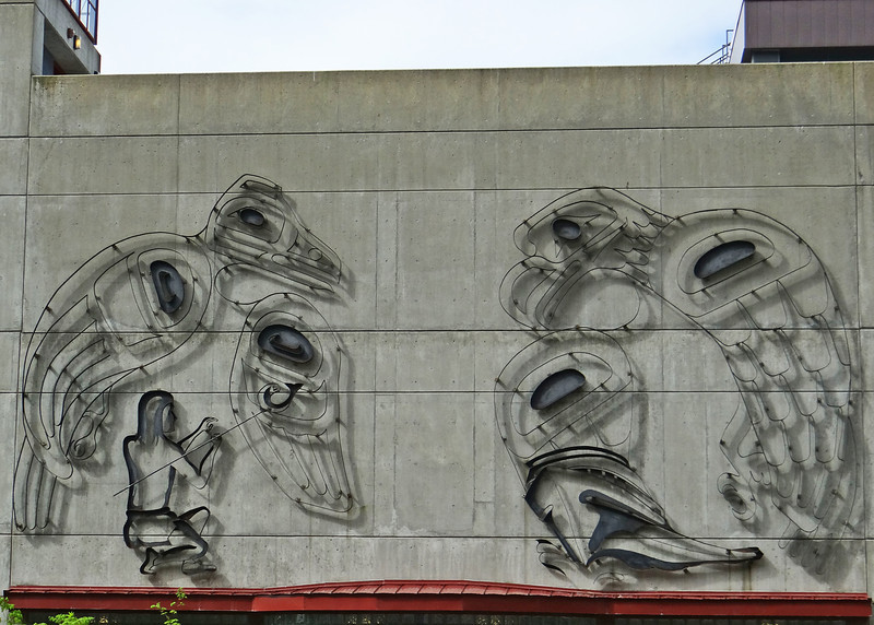 Artwork on a building