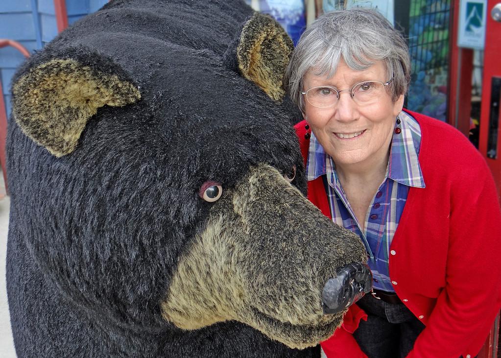 Susan with a stuffed bear