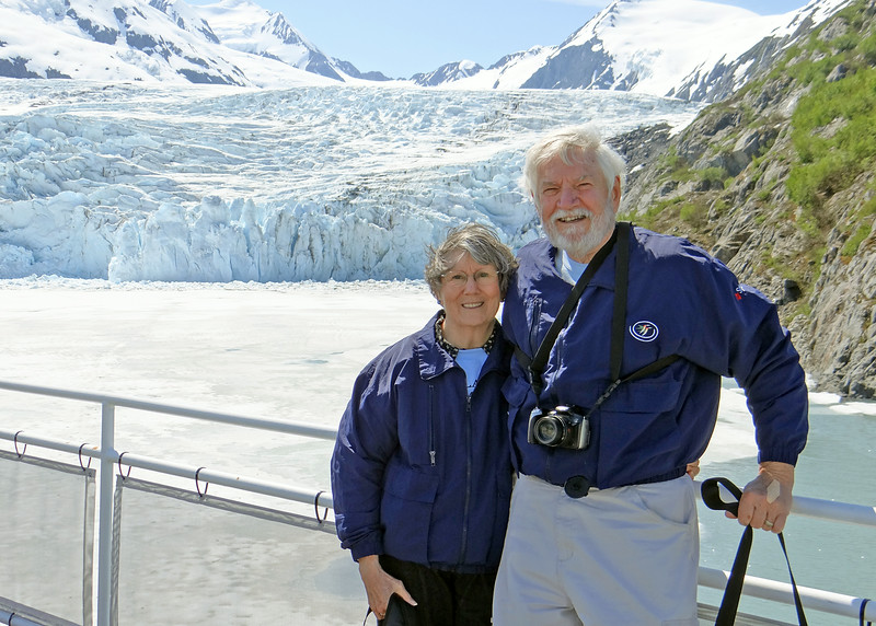Susan and Mike with Portage Glacier in the background