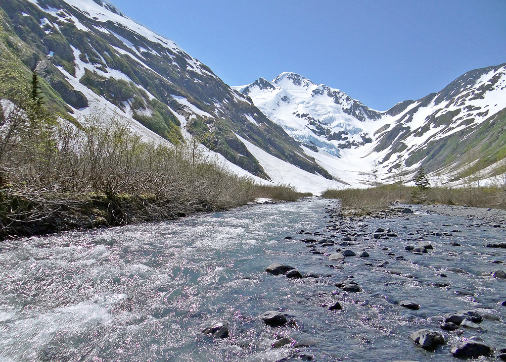 Byron Creek with Byron Glacier in the background