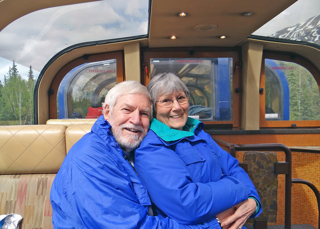 Mike and Susan on train