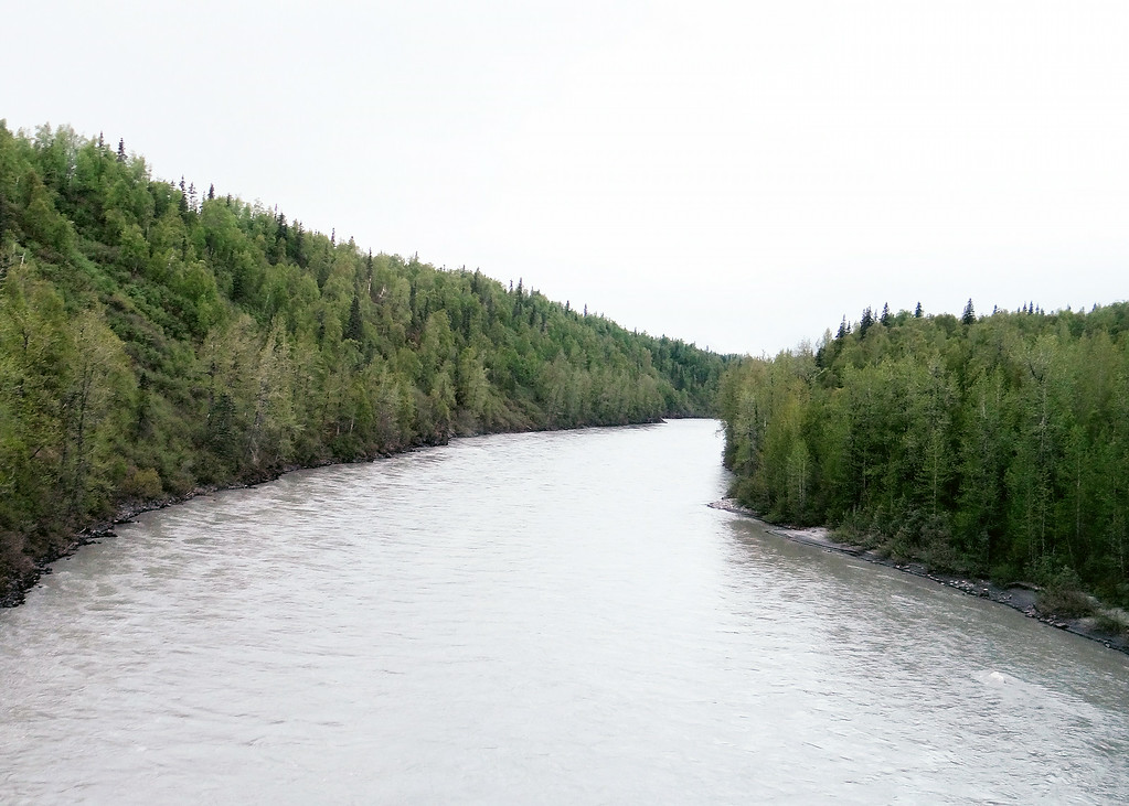 Chultna River on drive from lodge into Talkeetna for dinner