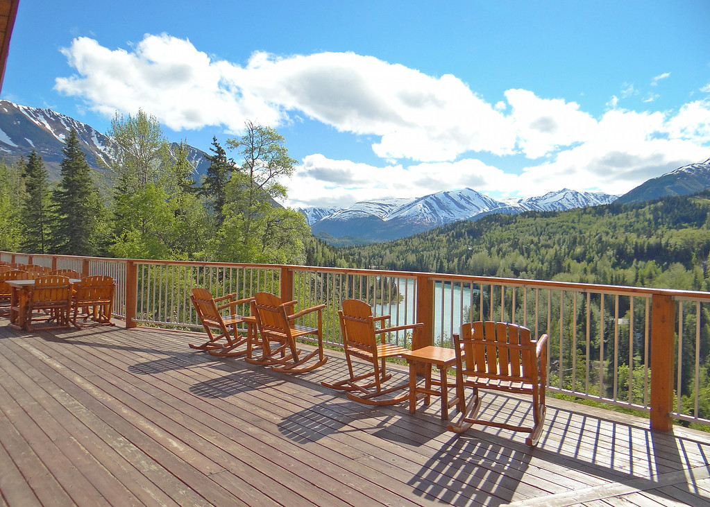 Deck at Kenai Princess Lodge