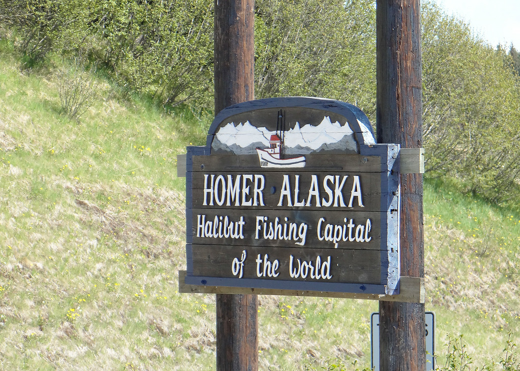Homer Alaska sign