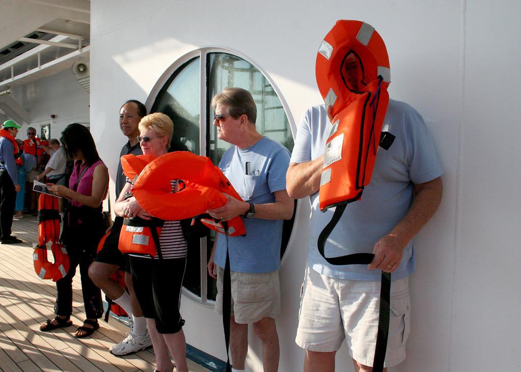 Life raft drill