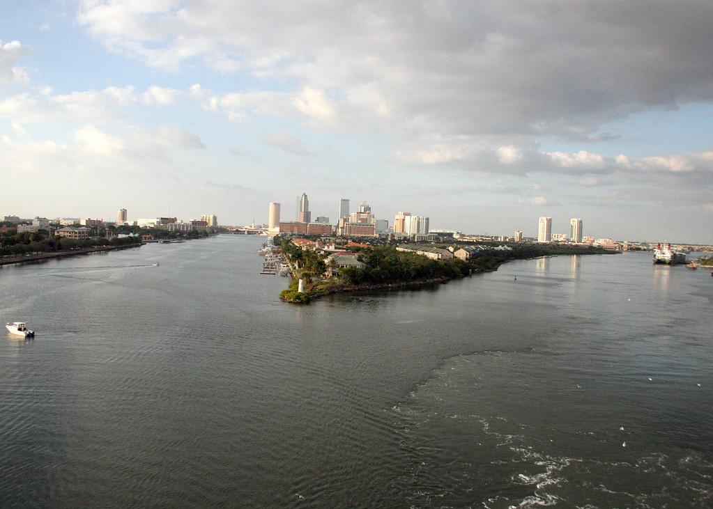 Leaving Tampa, FL port