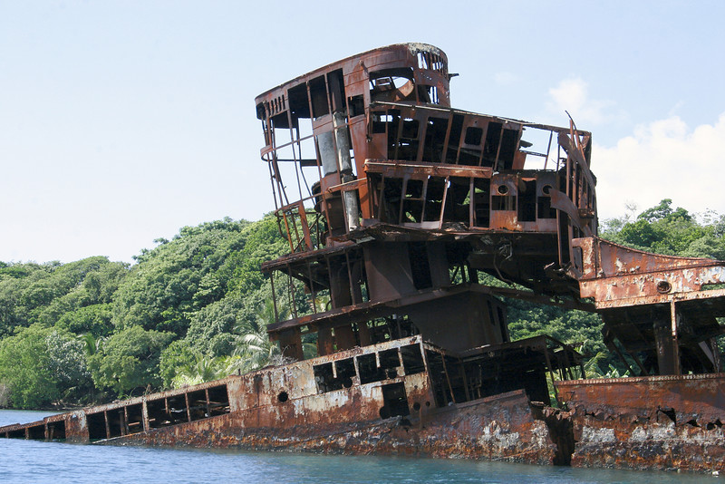 This is Las Palmas where we took a boat ride to this old shipwreck