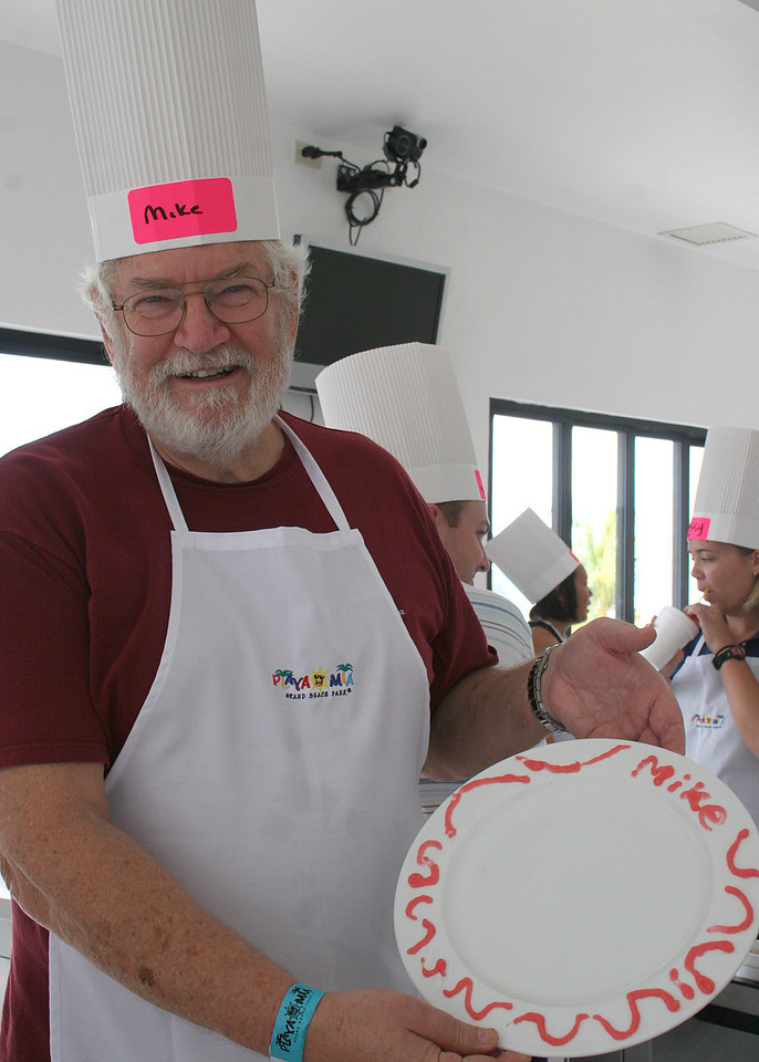 Mike showing his decorated plate