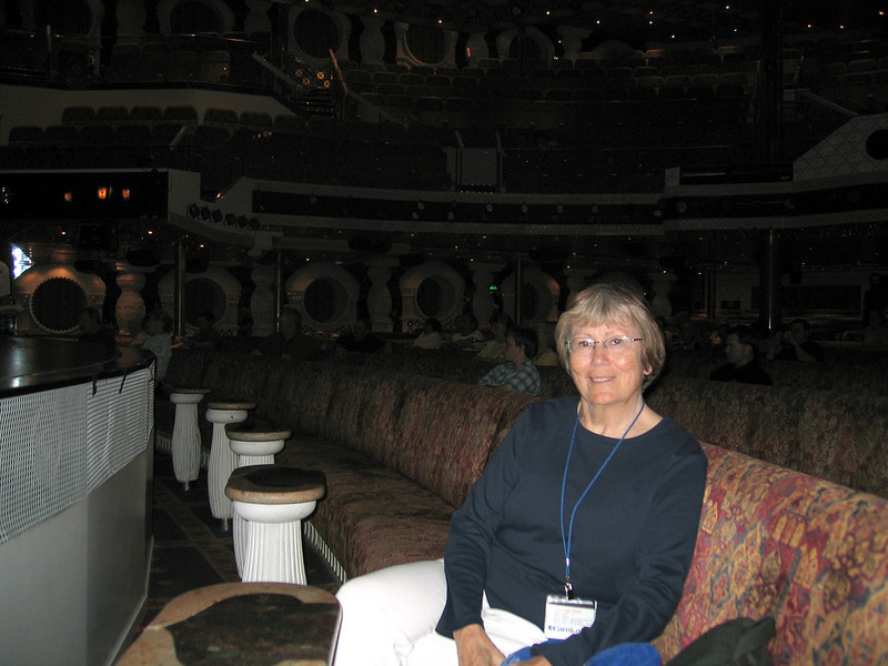 Susan in the theater at one of the shows