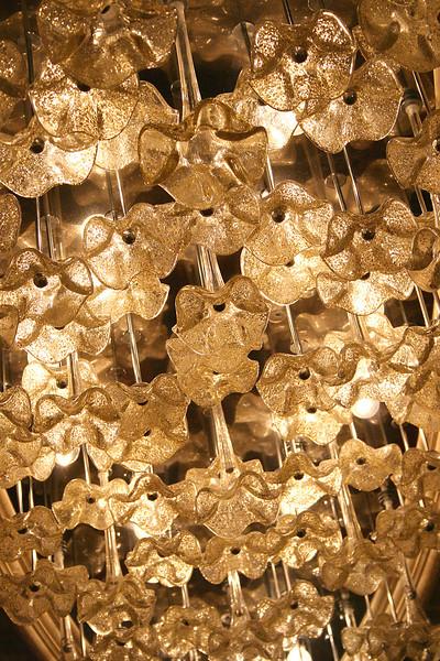 Beautiful overhead lighting in the lounge