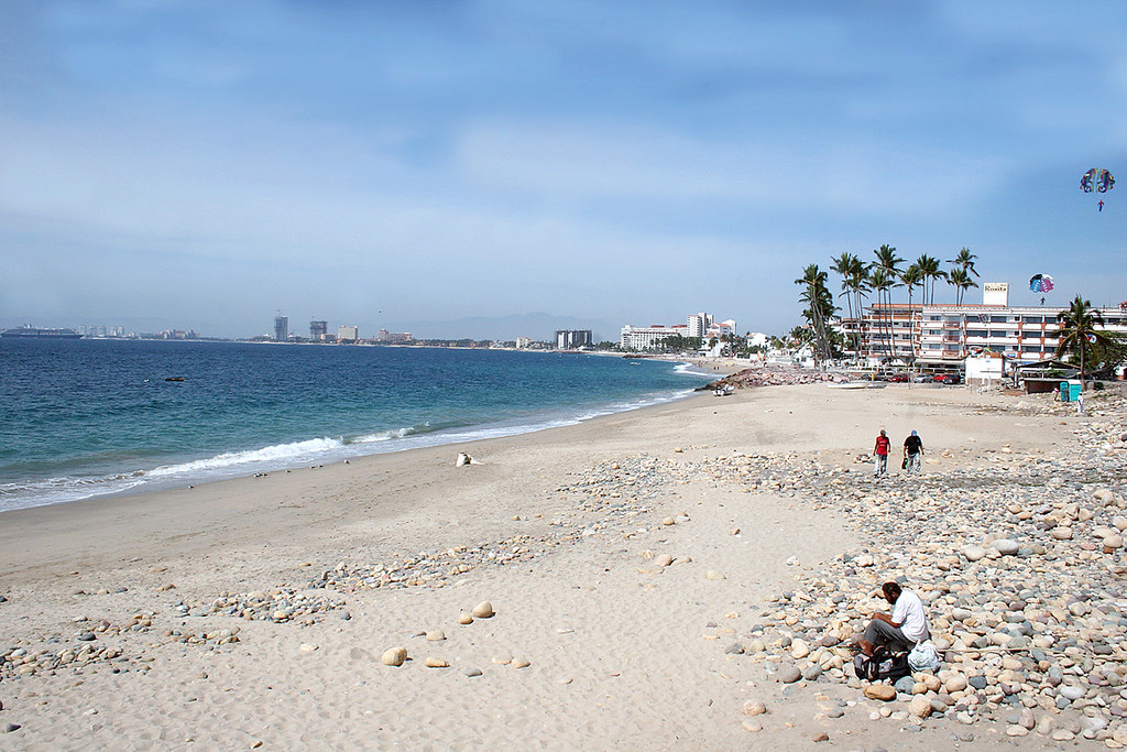 Beach along Malecon