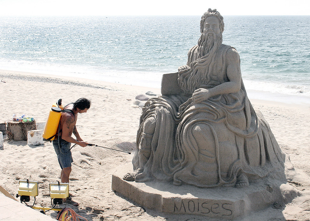Sand sculpture along Malecon