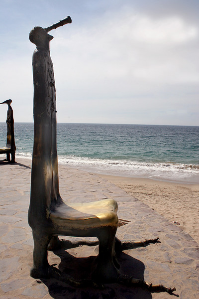 Seat sculpture along the Malecon