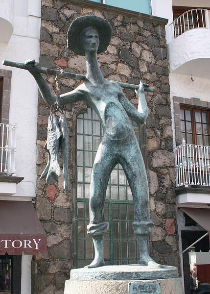 The Fisherman statue dedicated to fishermen in October 1998