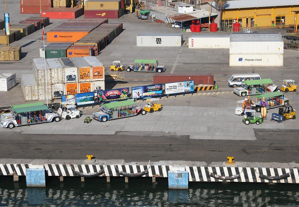 Festivities on the docks at the port in Mazatlan