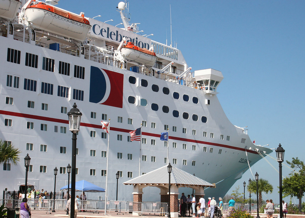 Carnival ship Celebration docked at Key West