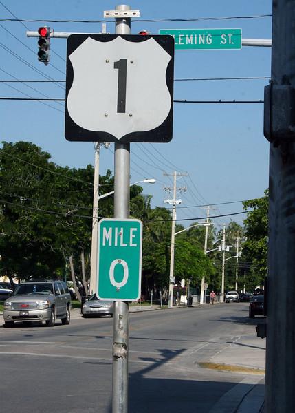 Terminus of Highway 1 in Key West.