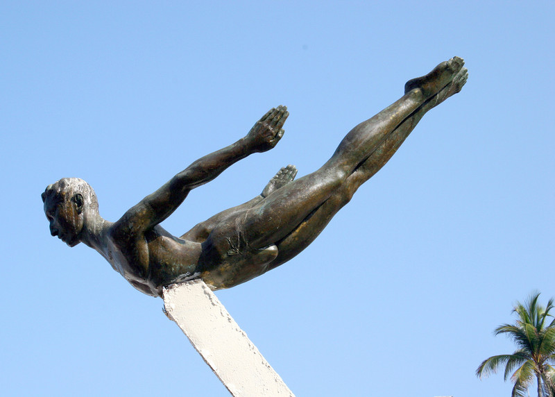 Cliff Diver statue
