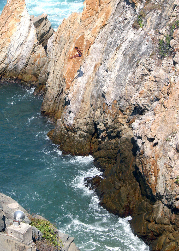 Cliff Diver on the way down.