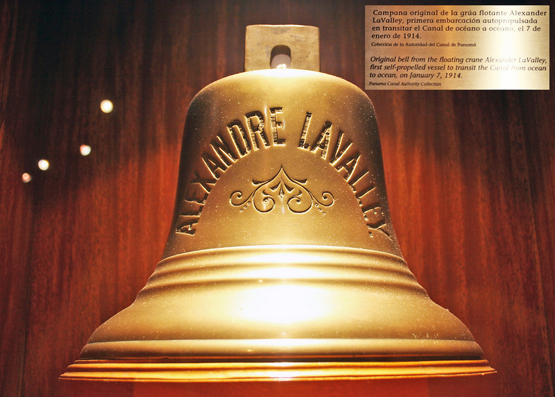 This is the bell from the ship that made the first Panama Canal transit
