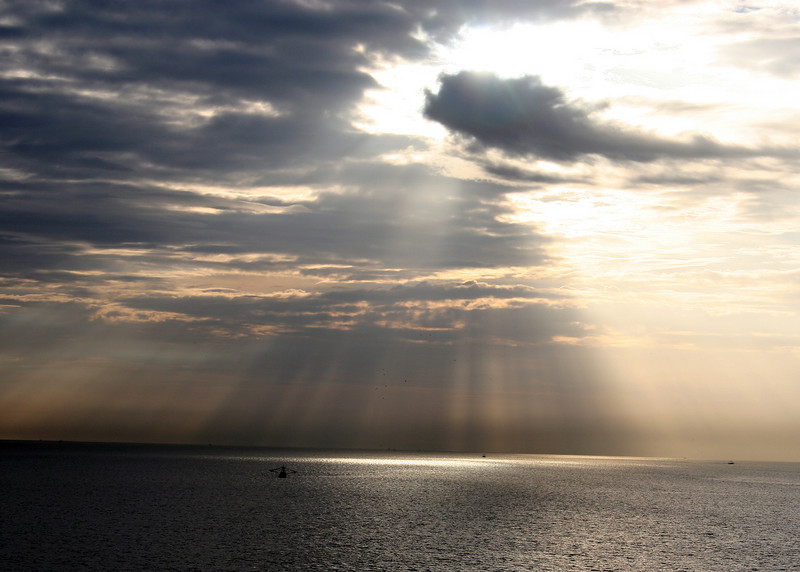 Beautiful sun rays in the morning