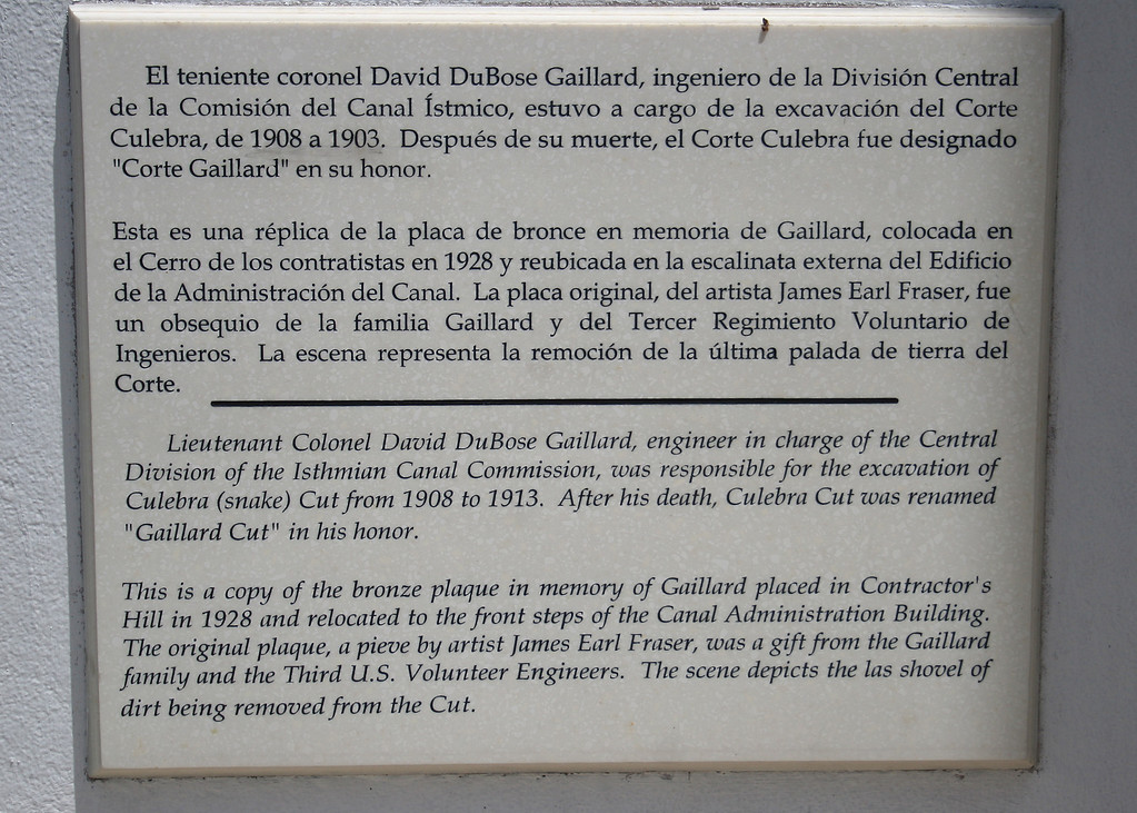 This is the sign at the Gaillard Plaque