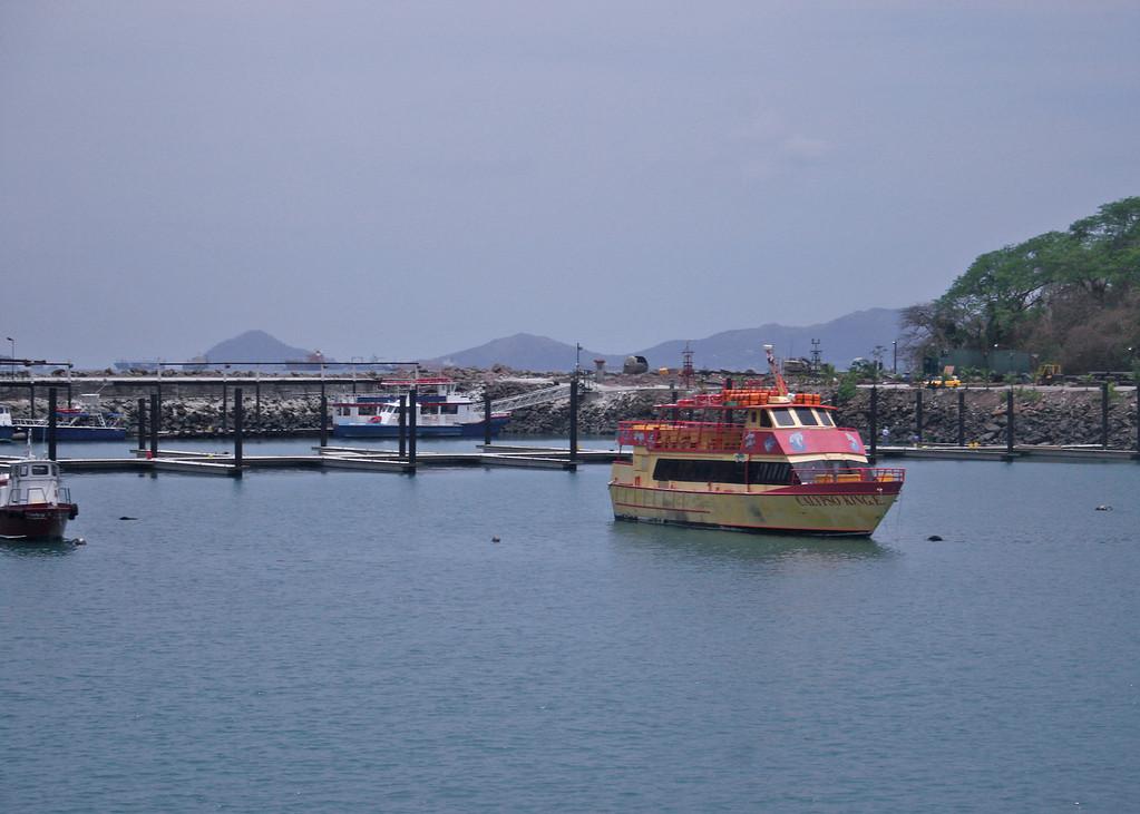 Boat in the harbor Puenta Amador