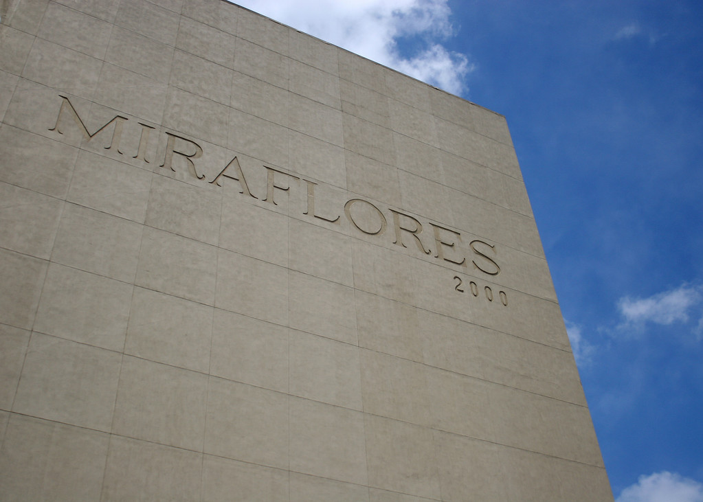 The outside of the Mira Flores building
