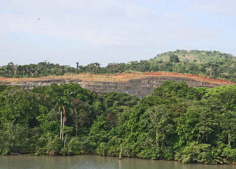 Terraced hillside on Miraflores Lake.