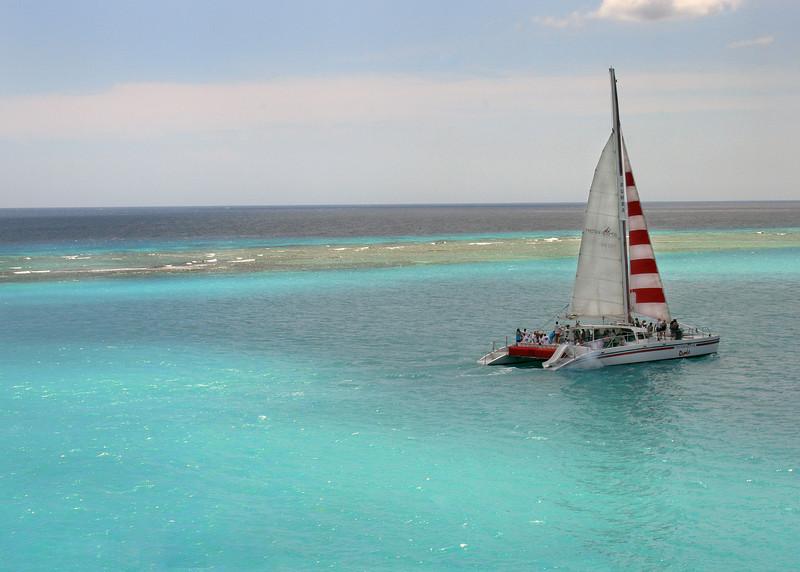 Catamaran in Aruba Bay
