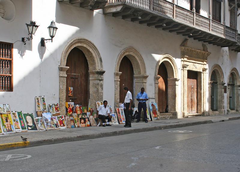 Vendor along sidewalk