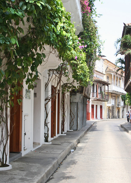 Beautiful narrow streets with baconies