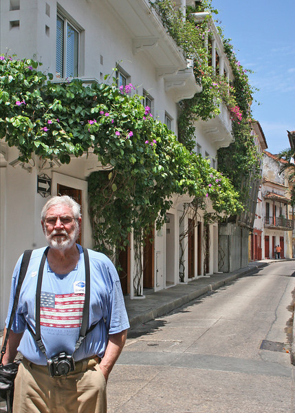 Mike on one of the narrow streets