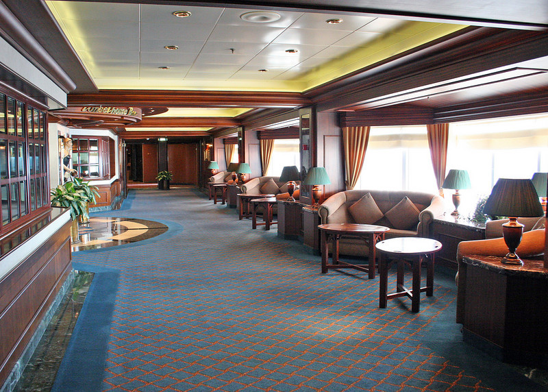 One of the hallways on the ship