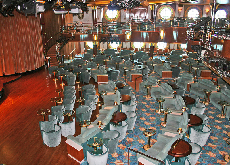 One of the theaters on the ship