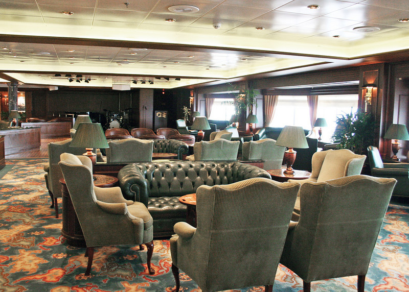 One of the lounges on the ship