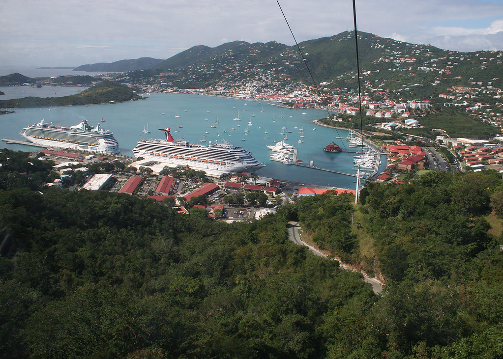 The view from the Skyride as we make our way back down