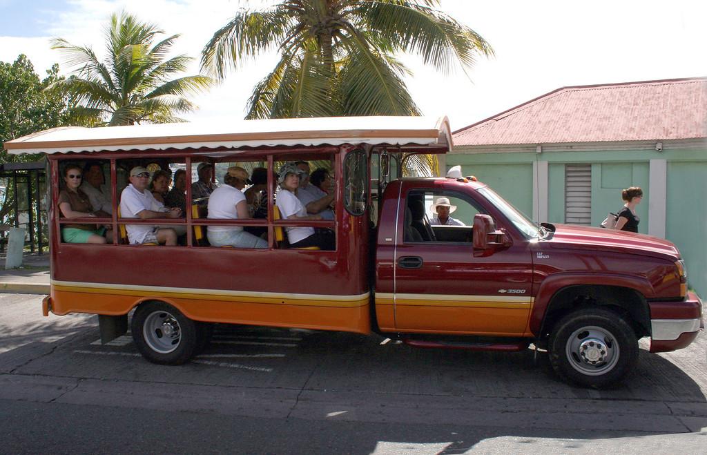 Tour vehicle in St. Thomas