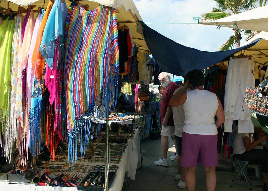 Local bazaar in Marigot