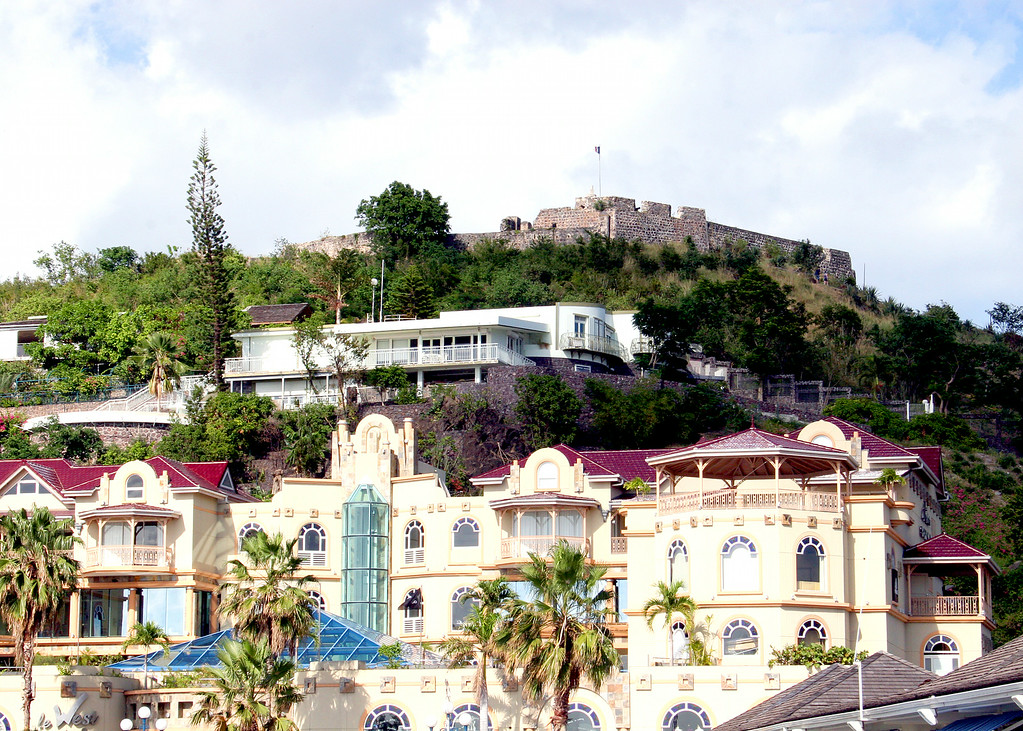 Ft. Saint Louis at the top of the hill in Marigot