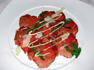 Beef carpacio
