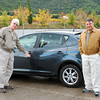 Bruce and Tony with our rental car.