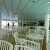 Indoor aft seating area