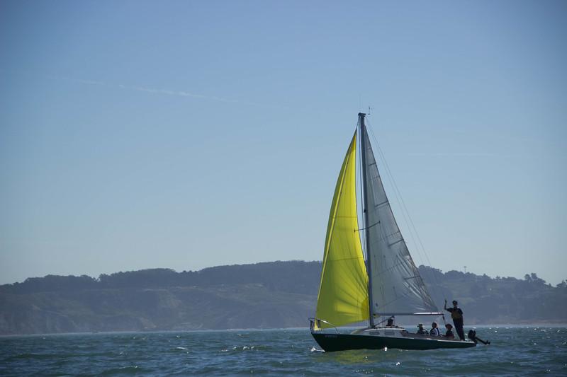 Finally under sail