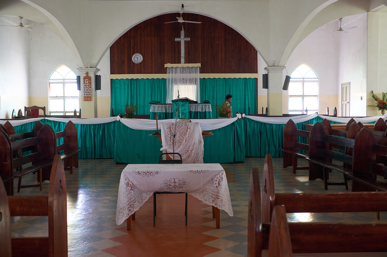 The interior of the church.