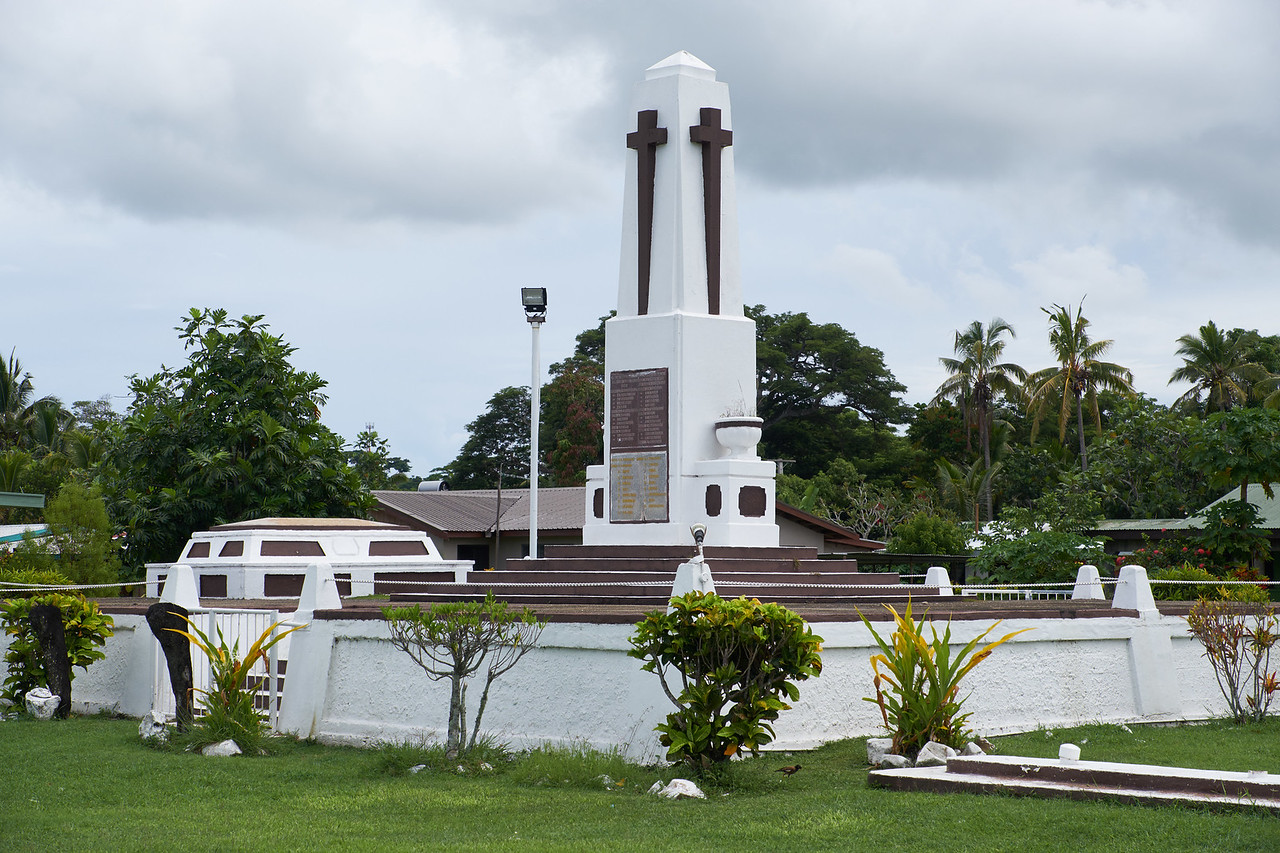 This memorial was built to commemorate 100 years of Chrisitanity in Fiji.