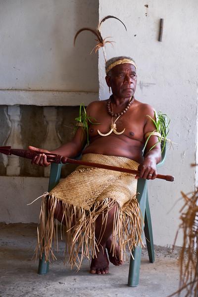 The Paramount Chief of Pango Village.